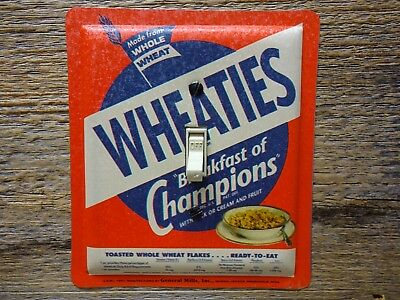 Light Switch Cover Made From A Retro Wheaties Tin Cereal Tins Retro Kitchenware