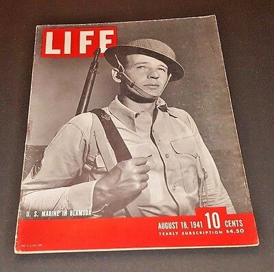 August 18, 1941 LIFE Magazine Old COKE Ad 40s ad advertising FREE SHIPPING Aug 8