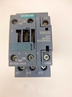 New!! Siemens Iec Magnetic Contactor, 208Vac, 38A, 1Nc/1No, 3Rt2028-1An20
