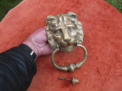 Large, Very Heavy Vintage Brass Lion Door Knocker/african Lion Brassdoor Striker