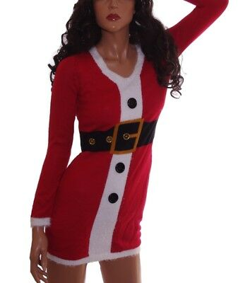 12c7f37a77 Womens SANTA Mrs Claus Ugly Christmas Sweater Party Dress S XL Plus 1X 3X  NEW