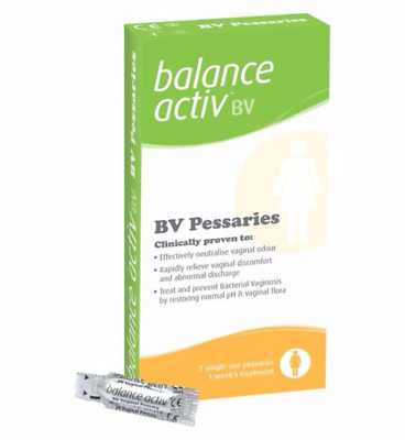 Balance Activ BV Treat and Prevent Bacterial Vaginosis 7 single Use Pessaries UK