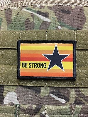 Houston Astros Uniform Morale Patch Tactical Military Army Baseball Hook