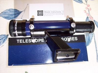 Meade Blue 6x30mm xhair  finderscope w/ tall bracket -  New Old Stock