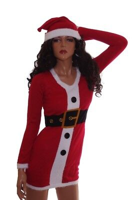91f1a2a68f4 Womens Mrs Claus Ugly Christmas Sweater Party Dress Hat Plus Size 1X 2X 3X  NEW