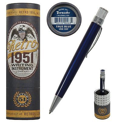 Retro 51 #VRR-1307 / Lacquered True Blue Tornado Rollerball Pen