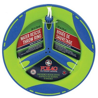Boat Marine Watercraft Safety Rescue Throw Ring 50 Ft of Line Fox 7928-0700