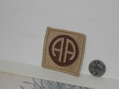 """Vtg. Post WWII Desert Cammo 82nd Airborne Division """"All American"""" Shoulder Patch"""