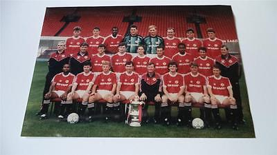 Manchester United Fc 1990-91 Squad With Fa Cup Press Or Club Issued Photograph