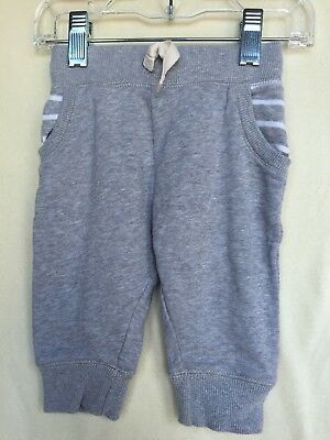 Hanna Andersson Gray Knit Jogger Pants Size 75 (12-18 M)