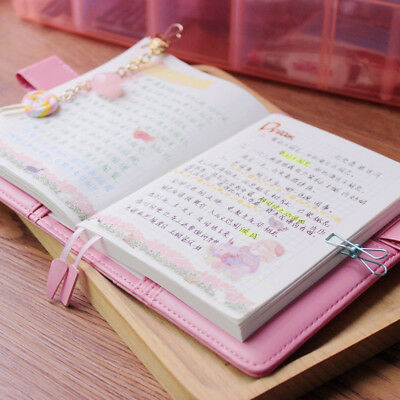 Girls Kawaii Pink Top Blank Diaries Travel Journals Notebook Diary A6 Note Books