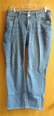 EUC Riders By Lee Denim Blue Jeans Stonewashed Womens Ladies Size 12P - 34 x 27