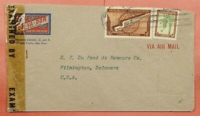 Dominican Republic Advertising Corner Airmail To Usa Wwii Censored