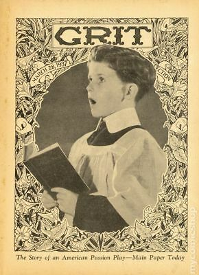 Grit Story Section (c. 1916) #Year 1937, Month 3MAR28 VG/FN 5.0 STOCK IMAGE