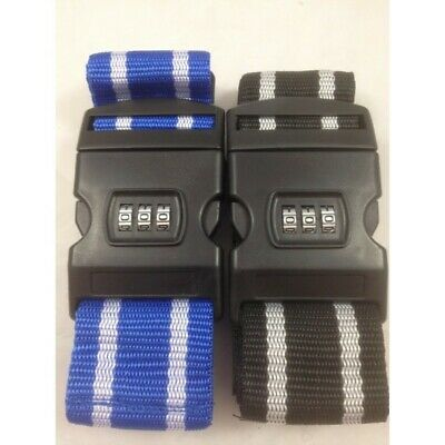 2 x Travel Time Bag Safe, 3 Dial Luggage Strap Great Luggage Accessory
