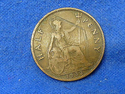 UK Great Britain,1932,Lot of 1 Coin,Half Penny Coin,Circulated