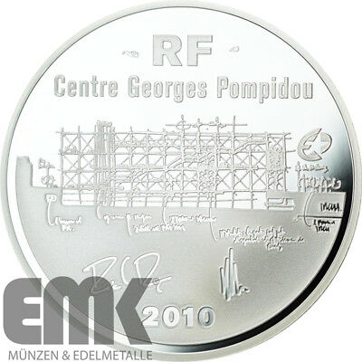 Frankreich - 10 Euro 2010 - Georges Pompidou - Europa Stern Serie - Silber PP