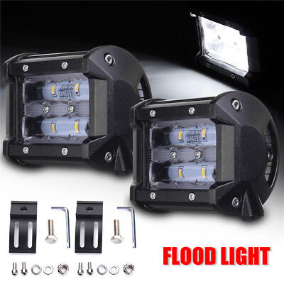 2x 4Inch 9D LED Car Work Light Bar Flood Beam SUV Boat Driving Offroad ATV Lamp