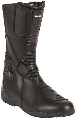 Blytz Chicago Black Leather Motorcycle Waterproof Boots New RRP £89.99!!!