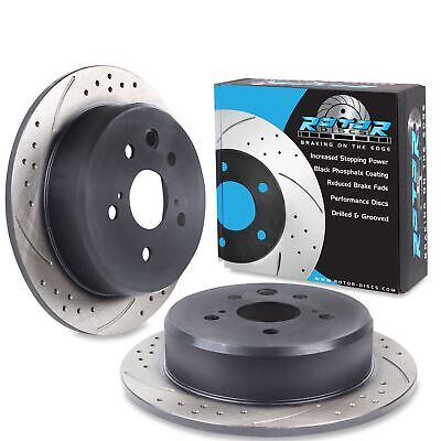 REAR DRILLED GROOVED 291mm RACE BRAKE DISCS PAIR FOR LEXUS IS220 D IS250 05+