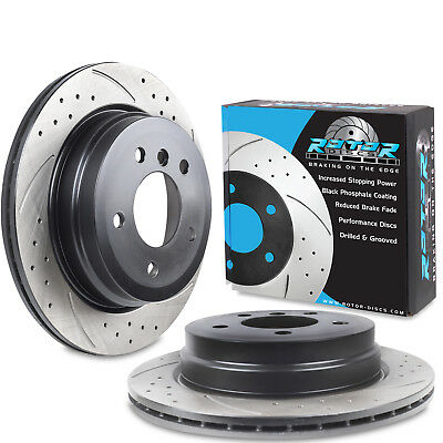 REAR DRILLED GROOVED 300mm BRAKE DISCS FOR BMW E87 F20 E93 E92 X1 120d 325