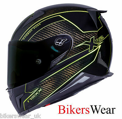 NEXX X R2 Carbon Pure Neon Yelow Full Face Carbon Motorcycle Helmet