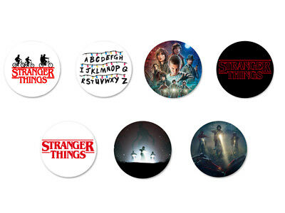 Lot Pack Badge Button Ø38mm Stranger Things Serie Science Fiction