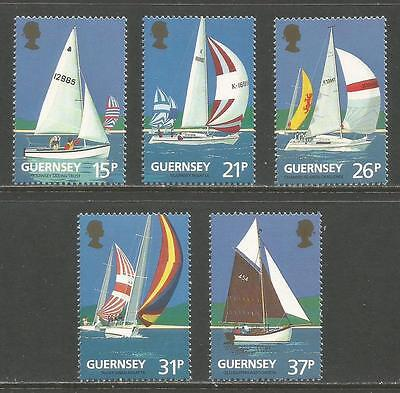 Guernsey 1991 Yacht Club 100th Anniv--Attractive Sports Topical (459-63) MNH