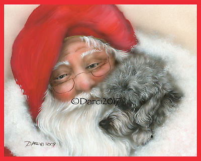 Dandie Dinmont Terrier Christmas note cards add a short message inside Free