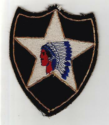 Bullion Off Uniform WW 2 US Army 2nd Infantry Division Patch Inv# S479