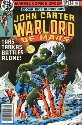 John Carter Warlord of Mars (1977 Marvel) #18 FN 6.0 STOCK IMAGE