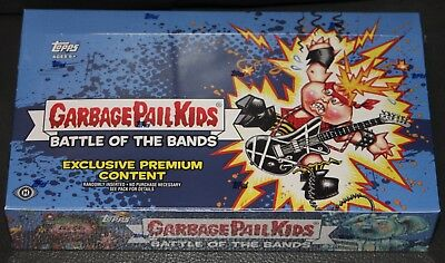 2017 Garbage Pail Kids S2 Battle Of The Bands Collector Edition Box Sketch Plate