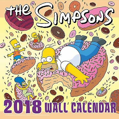 The Simpsons Oficial 2018 Cuadrado calendario de pared