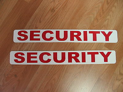 """RED 2 SECURITY Magnetic Signs 3""""x24"""" Police Constable 1 Pair 4 Car Truck SUV"""