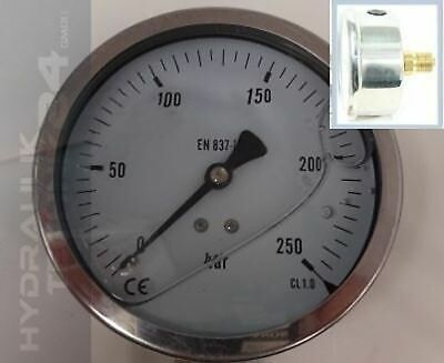 Hydraulic Manometer Glycerin Stainless Steel Eco-Line 0- 6 Bar