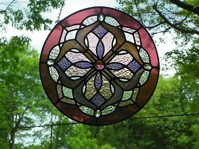 16 INCH STAINED GLASS ACCENT, suncatcher DECORATER PIECE