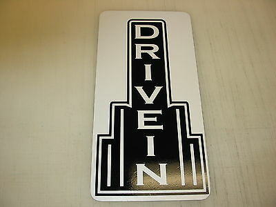 DRIVE IN Metal Sign Theater Bar Vintage Style Retro Art Deco Movie Room