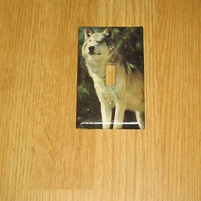 CLASSIC ARTIC TIMBER WOLF Light Switch Cover Plate