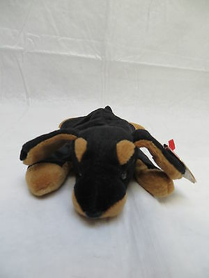TY Retired Beanie Original Baby Doby the Doberman Dog