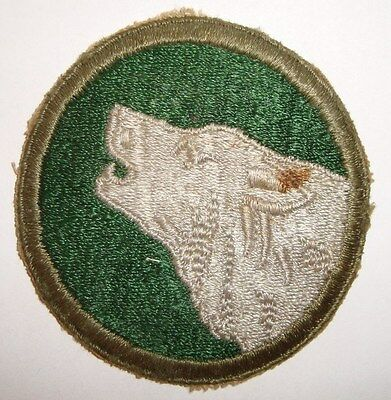 Vintage WWII US Army 104th Infantry Division Timber Wolf No-Glow Patch