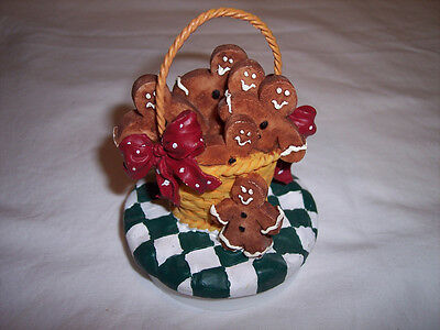 "Candle Companions, Gingerbread Men Candle Topper, fits 3"" candle Christmas"