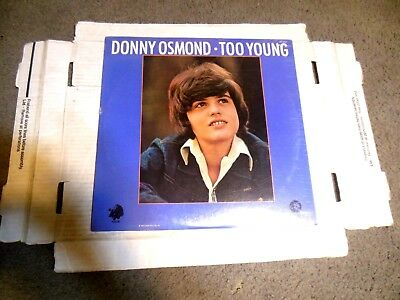 Too Young by Donny Osmond LP STILL SEALED! teen idol The Osmonds
