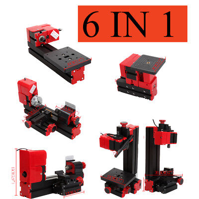Set 6en1 Mini Torno de Metal Velocidad Variable 20000RPM Portátil Fresar Madera