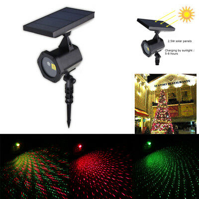 Xmas Christmas Star Light RED GREEN Shower Laser LED Projector Outdoor Garden AU