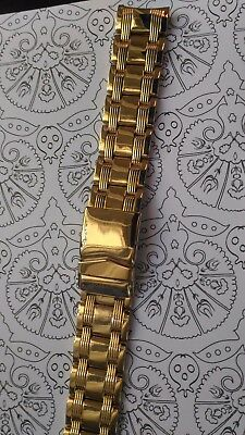 BRACELET DE MONTRE WATCH BAND / acier inoxydable doré  20mm  / KA71