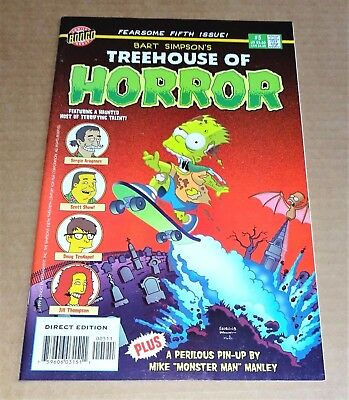 "Bongo Comics  ""bart Simpson's Treehouse Of Horror"" #5 Comic  Free Uk P/p"