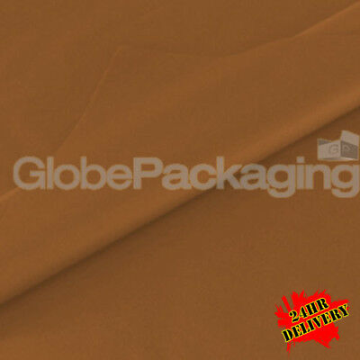 500 SHEETS OF BROWN COLOURED ACID FREE TISSUE PAPER 375mm x 500mm *24HR DEL*