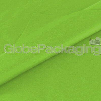 50 SHEETS OF LIME GREEN ACID FREE TISSUE PAPER 375mm x 500mm, 18gsm *QUALITY*