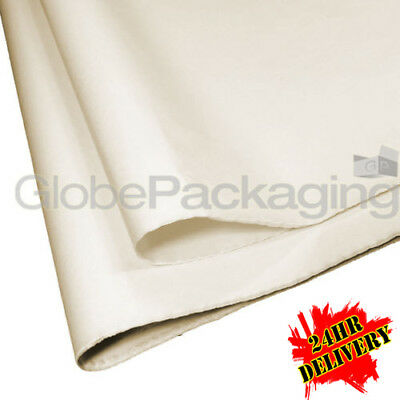 500 SHEETS OF IVORY COLOURED ACID FREE TISSUE PAPER 375mm x 500mm *24HR DEL*