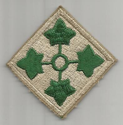 WW 2 US Army 4th Infantry Division Patch Inv# H584